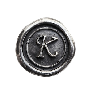シーリングイニシャル S 〈K〉 シルバー / コンチョボタン