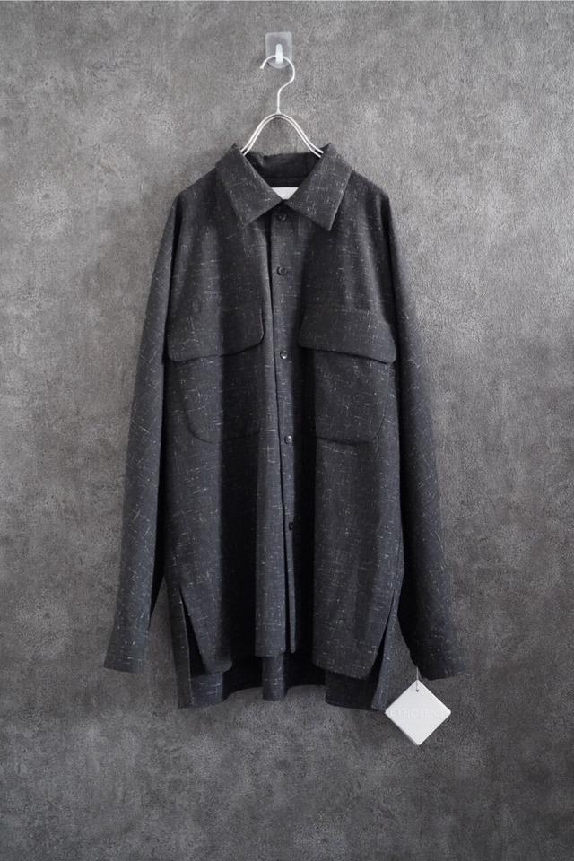 【2021 緊急SALE】 ETHOSENS double pocket shirt  Black