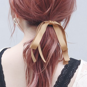 HAIR TIE || 【通常商品】 2LINE RIBBON HAIR TIE A || 2 HAIR TIES || MIX || FRSR0717A