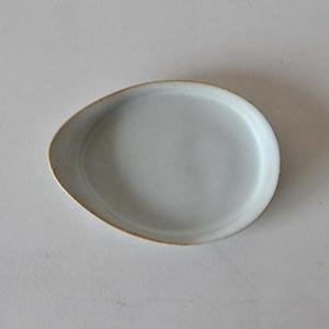 中林範夫(さんちゃ窯) 白5寸たまご皿(020)