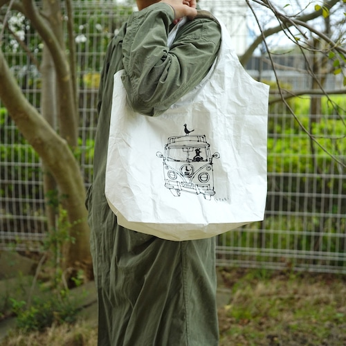 【mt.souvenir】タイベックマルシェバッグLサイズ