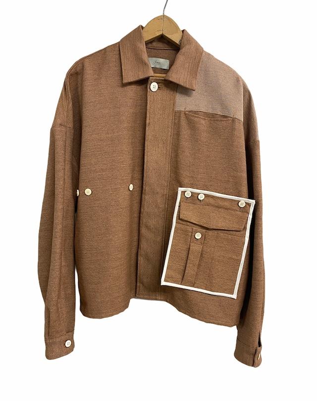 amachi. / Detachable Pocket Work Jacket (Soil Brown)