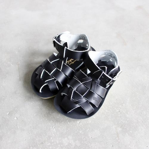 《SALTWATER SANDALS》Shark / black / 13.3-15.7cm