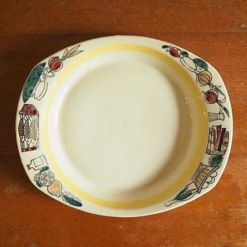 ノルウェーStavangerflint(スタヴァンゲルフリント)のレシピ付きのお皿