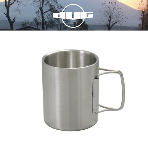 DUG(ダグ) ダブルウォールマグ(L) DG-0503 アウトドア サバイバル キャンプ グッズ 保温 保冷 マグカップ ステンレス