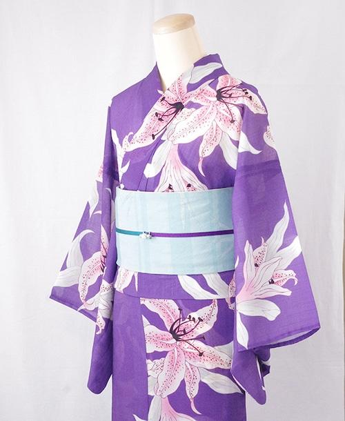 浴衣【百合】紫/加花の大人ゆかた