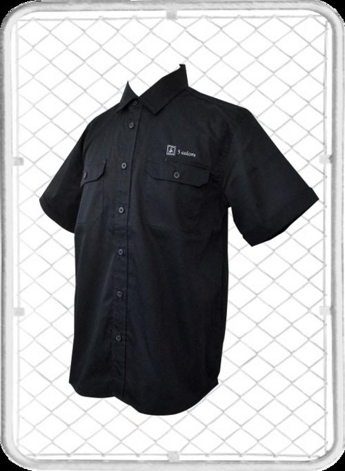 5colors Work-shirt / ファイブカラーズ ロゴ入り ワークシャツ