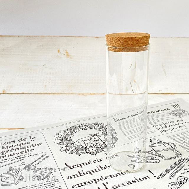 ガラスシリンダーMサイズ(コルク付き)