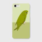 iPhoneケース サザナミインコ オリーブ 【各機種対応】