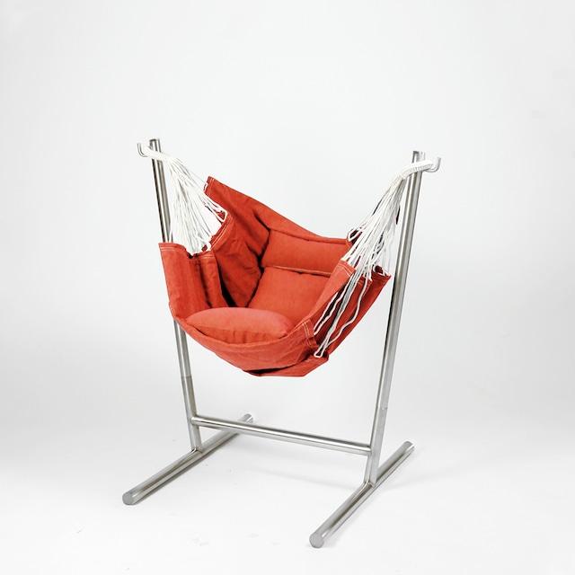 [在庫限り]Komforta コンフォルタ ミニ 自立式 ハンモック オレンジ