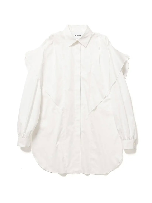 【FILL THE BILL】FRILL FLY FRONT SHIRTS