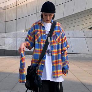 【トップス】チェック柄韓国系ファッションシャツ42897437