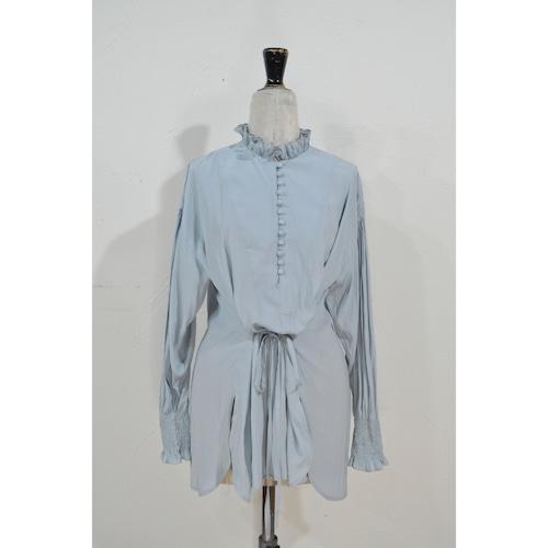 【RehersalL】bijou bolume sleeve blouse(light blue) /【リハーズオール】ビジューボリュームスリーブブラウス(ライトブルー)