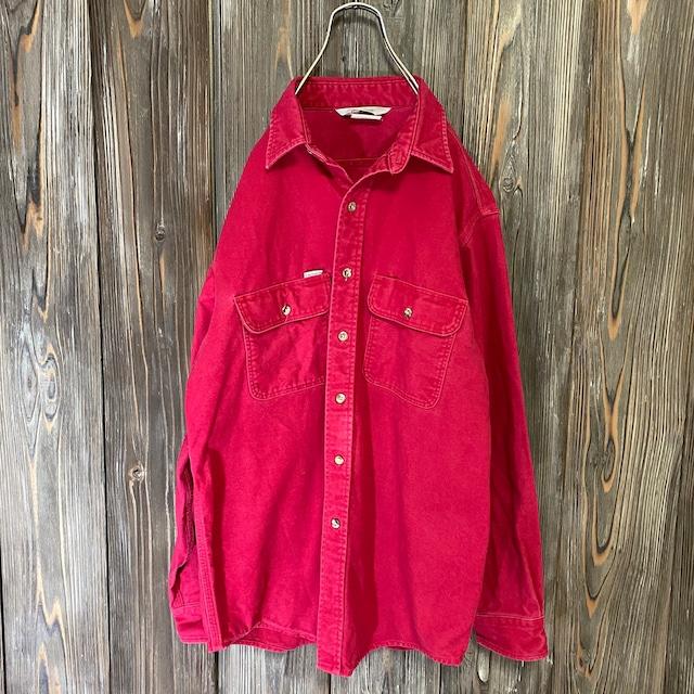 [Carhartt]vintage red work shirt jacket