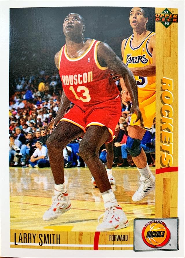NBAカード 91-92UPPERDECK Larry Smith #280 ROCKETS