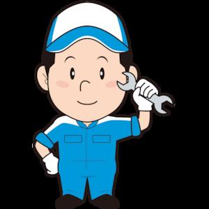 工具を持つ男性整備士