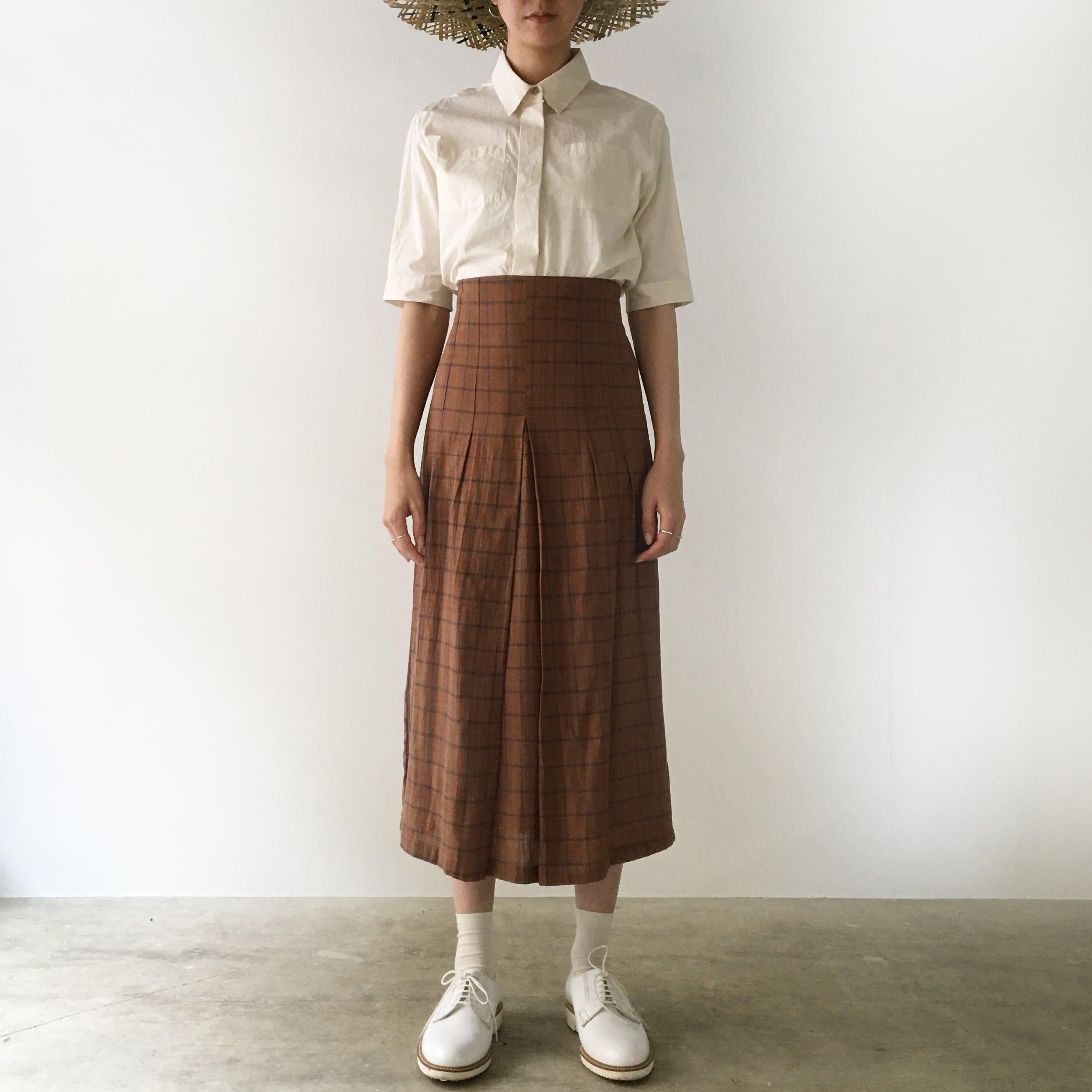 "Tight Skirt ""brown check"""