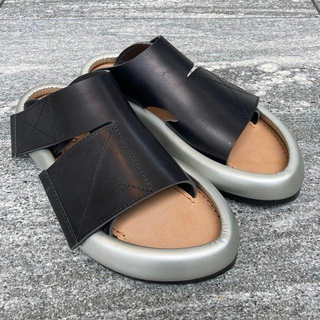 【MIDORIKAWA RYO】Sandal /Black.Silver