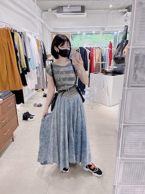 """""""modelle"""" vintage denim skirt"""