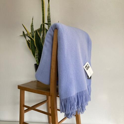 ウールブランケット シルケボー Silkeborg リトアニア製 大判 ひざ掛け 毛布 ライトブルー