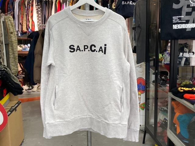 sacai × A.P.C. TANI SWEATSHIRT PALE GREY MEDIUM 110KJ0508