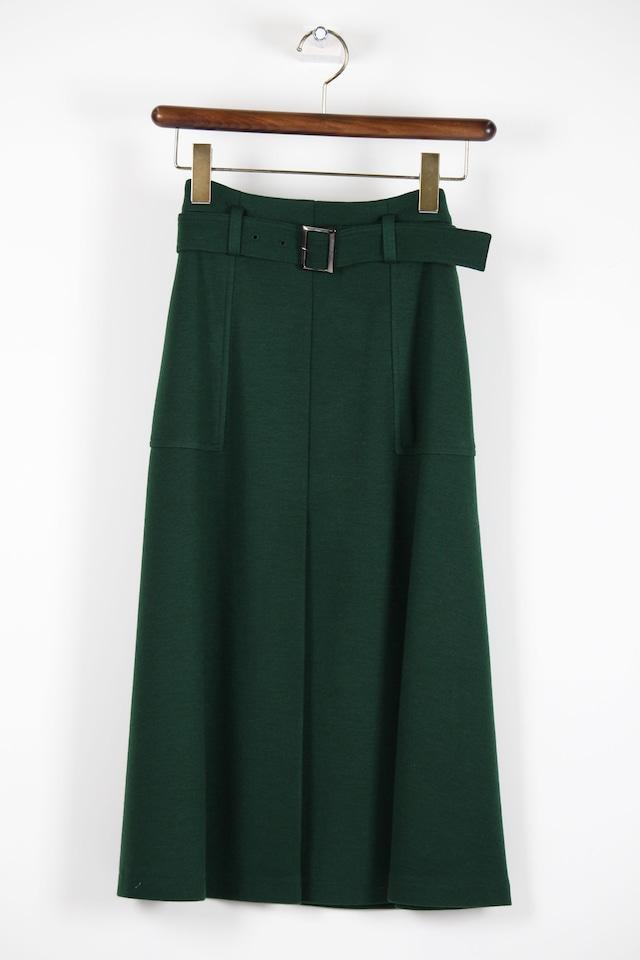 オリーブグリーンのベルト付きスカートSKC17
