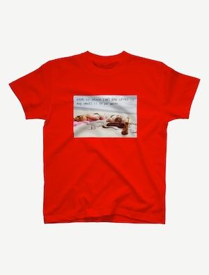 【悩み無用の開放ビーチ】Tシャツ(レッド)