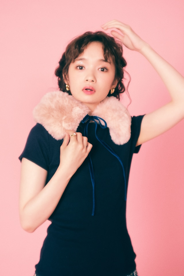 【Lilien Room】Sugared Color Tippet (Pink)