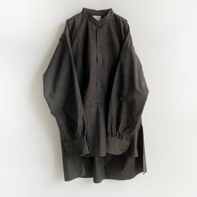 """Pullover gather blouse """"black kassis"""" (natural dyed) organic cotton"""