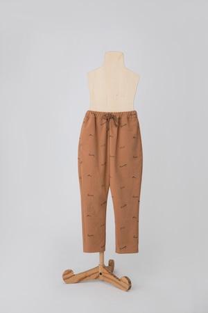 【21AW】folkmade(フォークメイド)embroidery rogo jodhpurs pants パンツ beige×black(S/M/L)