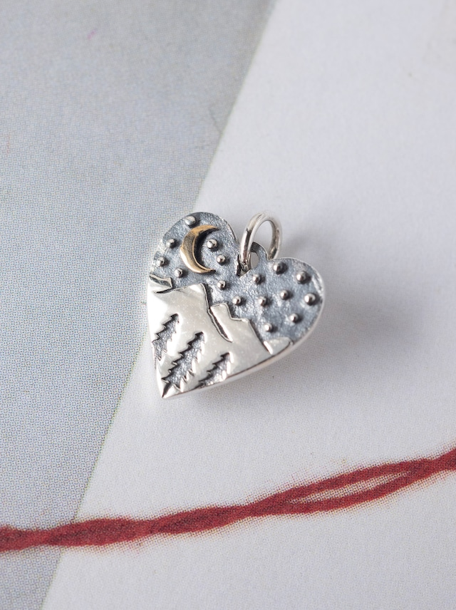 Heart Charm / Silver - 006