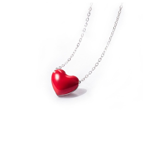 IUHA バレンタイン ギフト 【赤いハート】ネックレス 銀製 シルバー製 S925 アレルギー対応   177iuhat