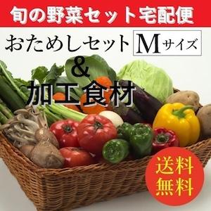 お試し旬の野菜&加工食材:詰合せセット【Mセット(8~9種類)】「2~4人向き」宅配サービス【送料無料】