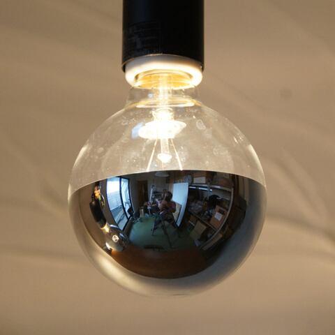 E26 20W シルバーミラーボール (白熱電球)※電球のみ