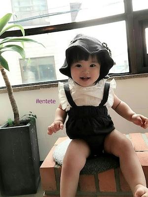 SALE★《韓国子供服》即日配送可能*Black suspender sute