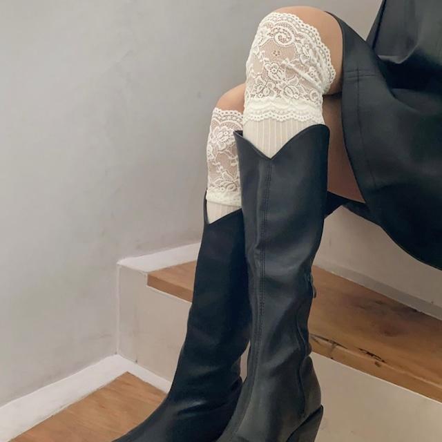 knee length lace socks 2c's