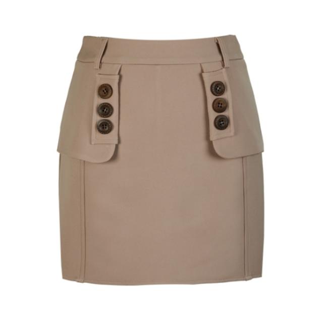 Flap H line Skirt(Beige)