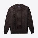 Fisherman Sweater(Dk Brown)