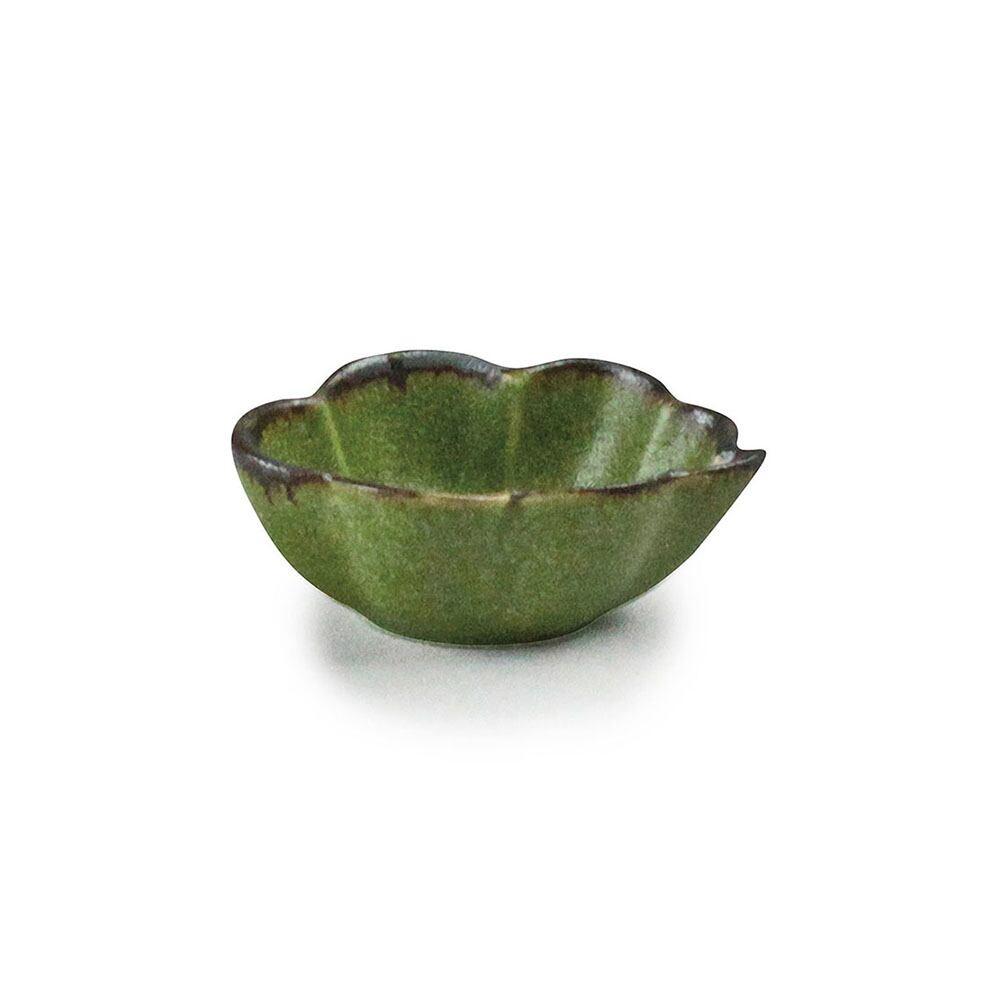 aito製作所 「翠 Sui」しょうゆ皿 雲豆鉢 約6×5cm うぐいす 美濃焼 288211