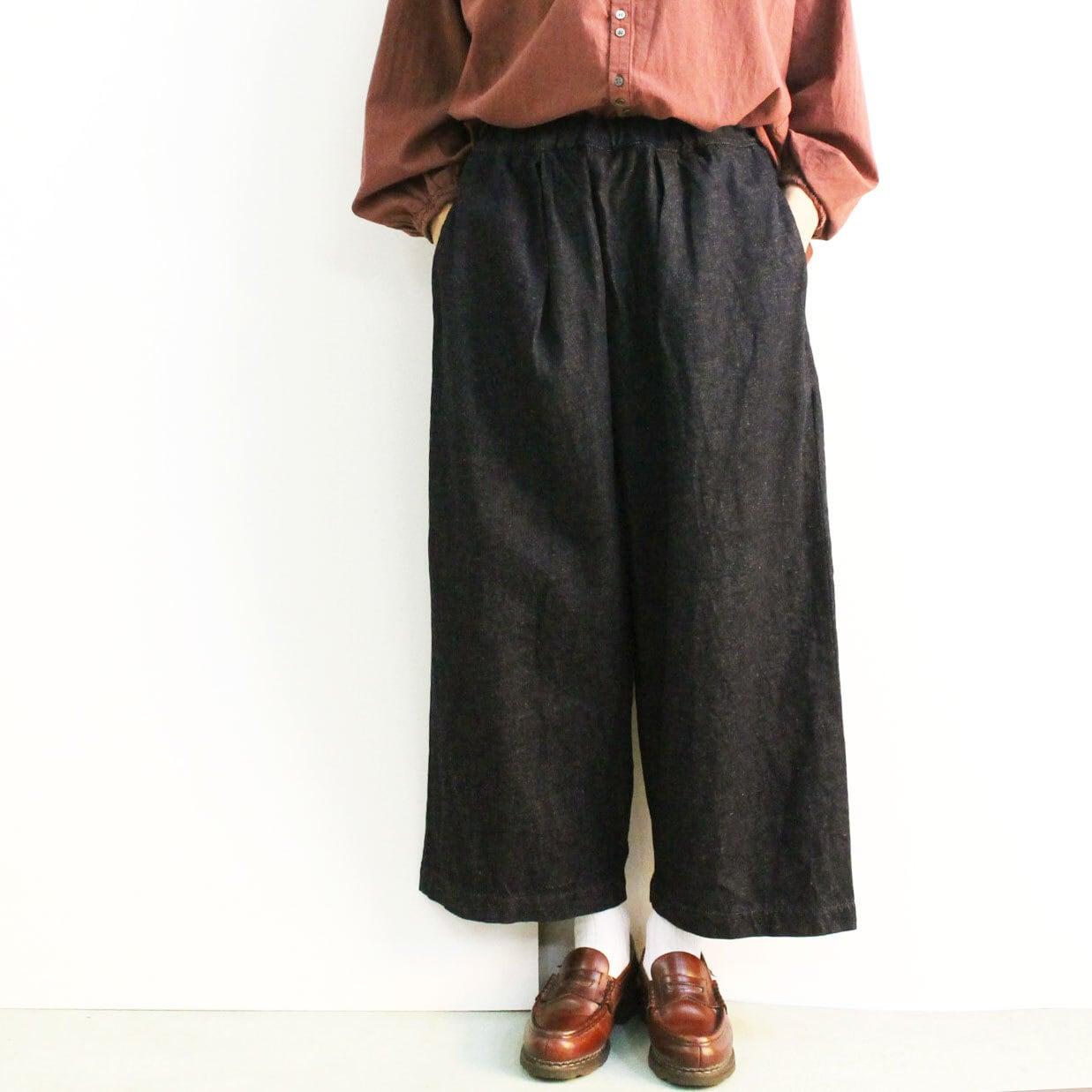 BROCANTE ブロカント グランクールパンツ 33-262D  綿麻デニム ワイド短め丈パンツ