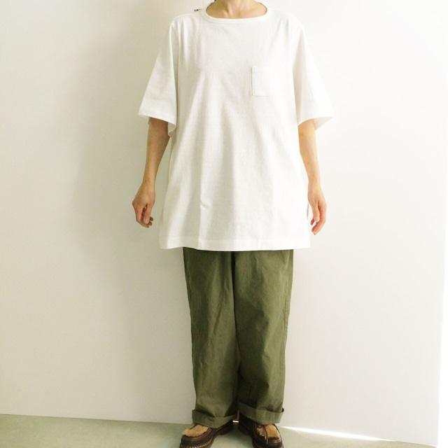 HUE ヒュー 3 POCKETS T-SHIRTS  MIDDLE LENGTH   HUE-04   3ポケットTシャツ