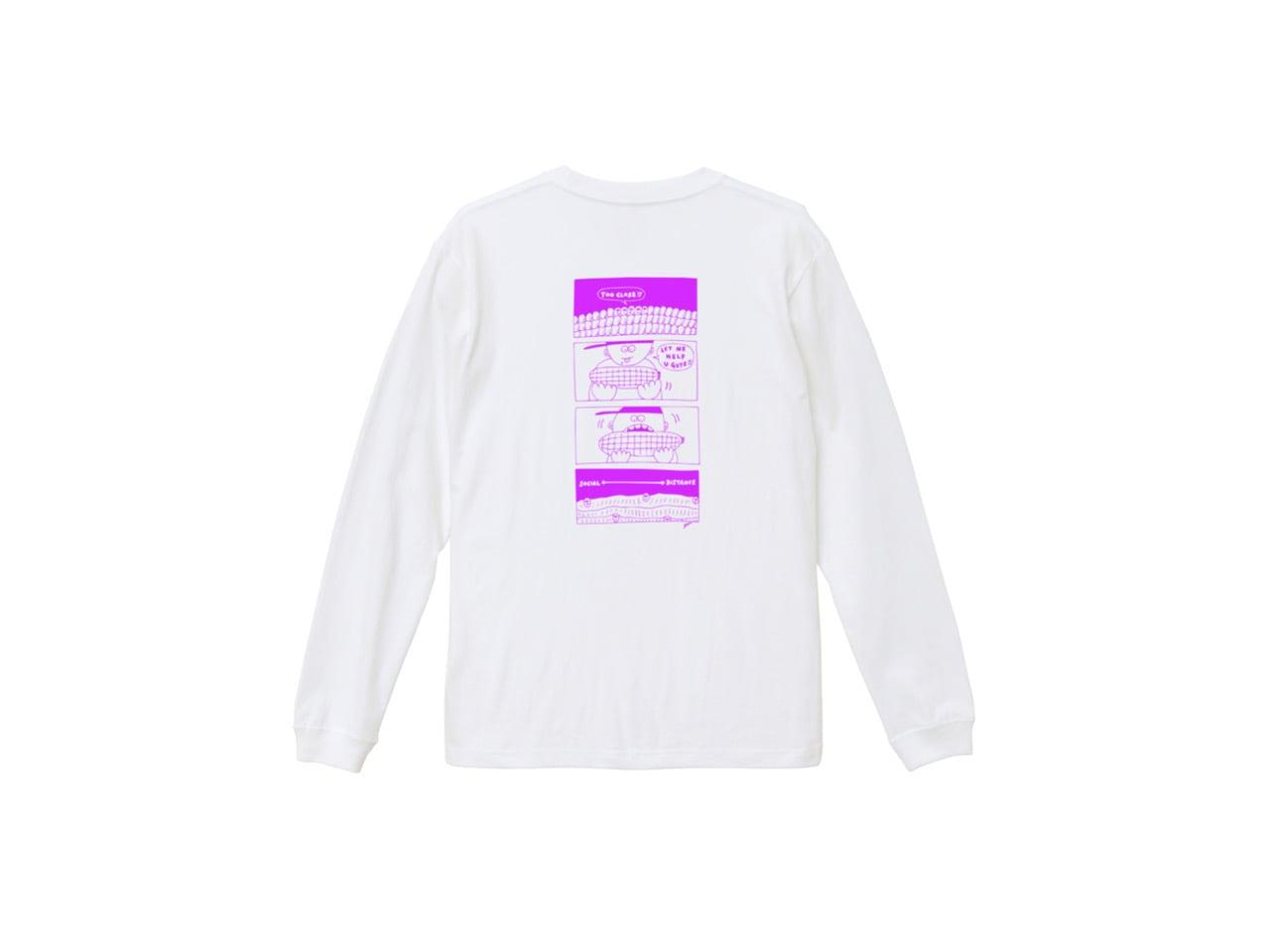 SHI × coguchi Corn SD long T-shirt (WH/PUR)