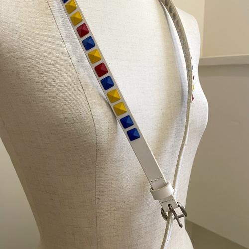 【saranam】color kakupira  belt / 【サラナン】カラー角ピラベルト
