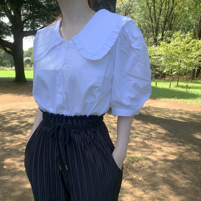 sailor collar fril shirt [2105-25]