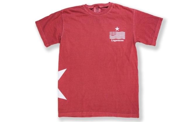 【vintage STAR logo T-shirt】/ red