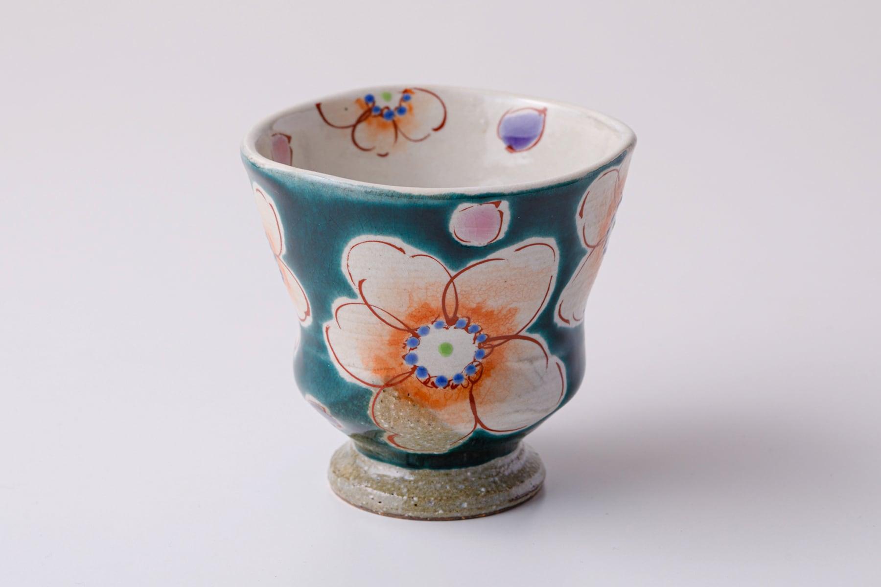 湯呑ペコ 釉彩花うらら