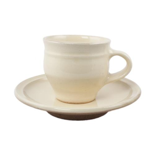 出西窯 カップ&ソーサー 白