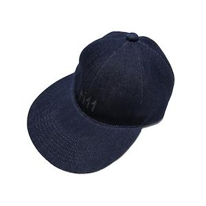 DENIM REPELLENT CAP BW-803  BLACK EMBROIDERY