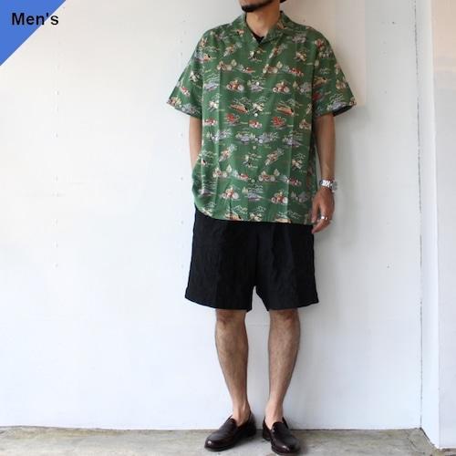 Orgueil オルゲイユ Aloha Shirt アロハシャツ GREEN