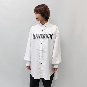 MAISON MAVERICK PRESENTS(メゾン・マベリック・プレゼンツ)ロゴプリントシャツ 2021秋冬新作 [送料無料]